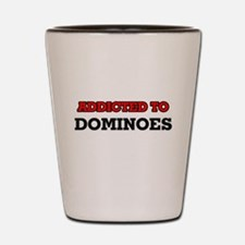 Addicted to Dominoes Shot Glass