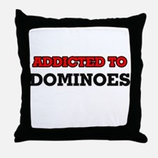 Addicted to Dominoes Throw Pillow