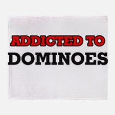 Addicted to Dominoes Throw Blanket