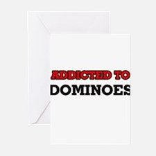Addicted to Dominoes Greeting Cards