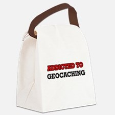 Addicted to Geocaching Canvas Lunch Bag