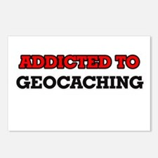 Addicted to Geocaching Postcards (Package of 8)
