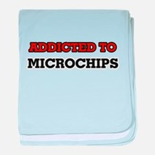 Addicted to Microchips baby blanket