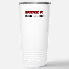 Addicted to Open Source Travel Mug