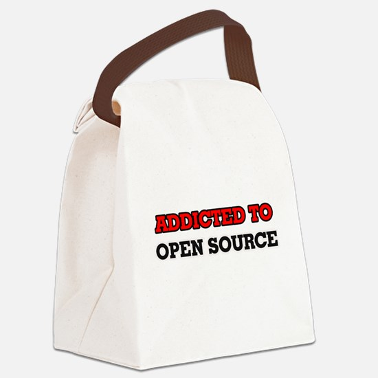 Addicted to Open Source Canvas Lunch Bag