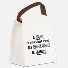 Maine Coon Cat Is My Family Canvas Lunch Bag