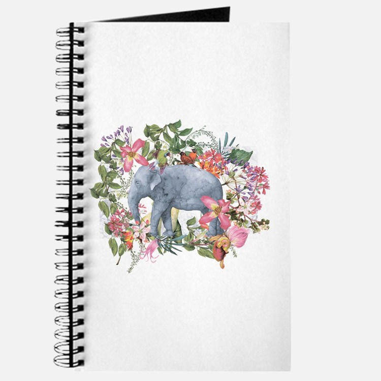 Elephant in jungle - watercolor artwork Journal
