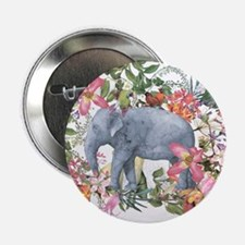 """Elephant in jungle - waterc 2.25"""" Button (10 pack)"""