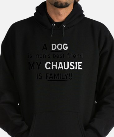 Chausie Cat Is My Family Hoodie (dark)