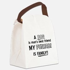 Punjabi Cat Is My Family Canvas Lunch Bag