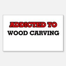 Addicted to Wood Carving Decal