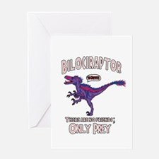 Bilociraptor - Speech Lable Greeting Cards