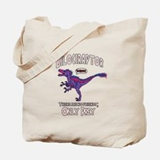 Bilociraptor - Speech Lable Tote Bag