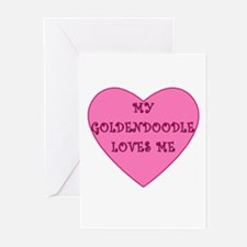 My Goldendoodle Loves Me Greeting Cards (Pk of 10)