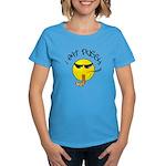 I East Pussy Smiley Face Women's Aqua T-Shirt