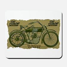 Thor Motorcycle Retro Logo Mousepad