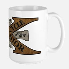 Excelsior Motorcycle Retro Logo Mugs