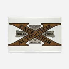 Excelsior Motorcycle Retro Logo Magnets