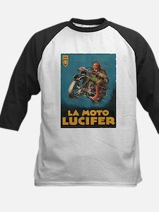 La Moto Lucifer Motorcycle Retro Logo Baseball Jer