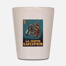 La Moto Lucifer Motorcycle Retro Logo Shot Glass