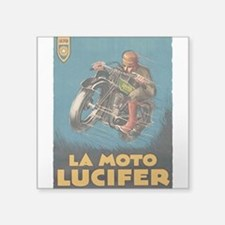 La Moto Lucifer Motorcycle Retro Logo Sticker