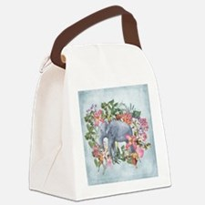 Cute Background color Canvas Lunch Bag