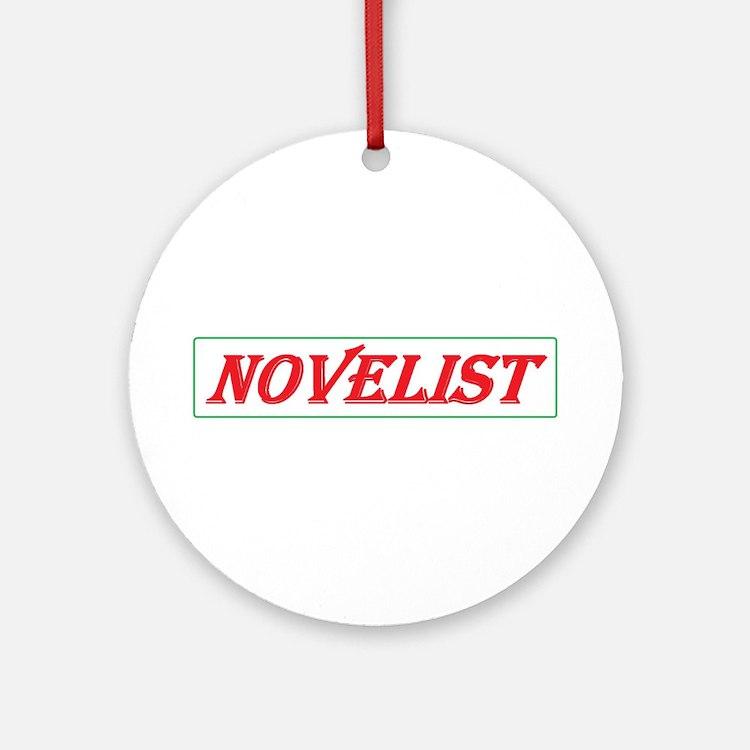 Novelist Ornament (Round)