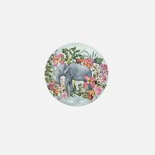 Elephant in jungle - waterco Mini Button (10 pack)