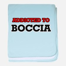 Addicted to Boccia baby blanket