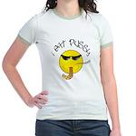 I East Pussy Smiley Face Jr. Ringer T-Shirt