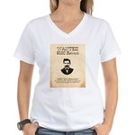 Doc Holliday Wanted Women's V-Neck T-Shirt