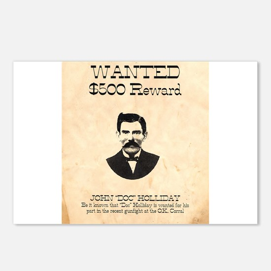 Doc Holliday Wanted Postcards (Package of 8)