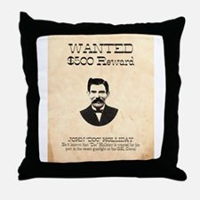 Doc Holliday Wanted Throw Pillow