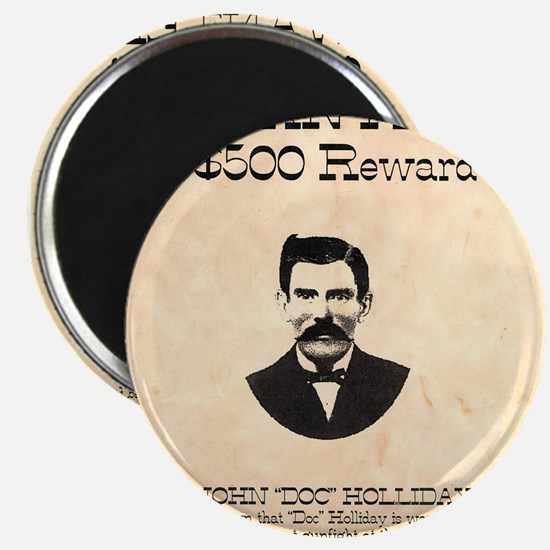 "Doc Holliday Wanted 2.25"" Magnet (10 pack)"