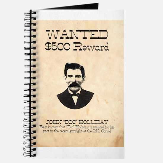 Doc Holliday Wanted Journal