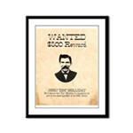 Doc Holliday Wanted Framed Panel Print