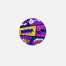 Colorful Comic Book Panels Mini Button (100 pack)