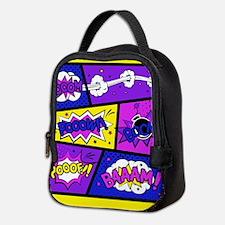 Colorful Comic Book Panels Neoprene Lunch Bag