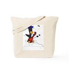 Rockstar Penguin Tote Bag