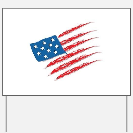 America Flag Yard Sign
