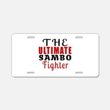 The Ultimate Sambo Martial Aluminum License Plate
