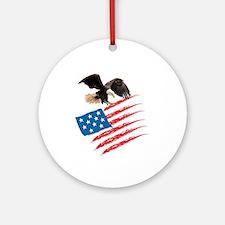 America Flag Round Ornament