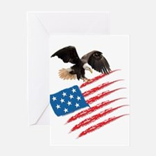 America Flag Greeting Cards