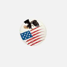 America Flag Mini Button