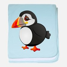 Puffin baby blanket