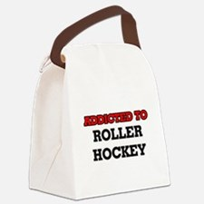 Addicted to Roller Hockey Canvas Lunch Bag