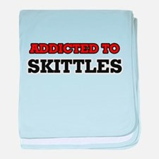 Addicted to Skittles baby blanket