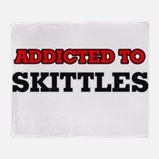 Addicted to Skittles Throw Blanket