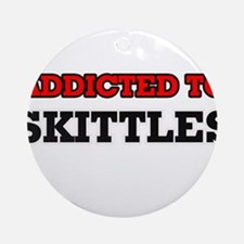 Addicted to Skittles Round Ornament