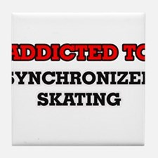 Addicted to Synchronized Skating Tile Coaster